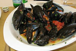 dish of mussels